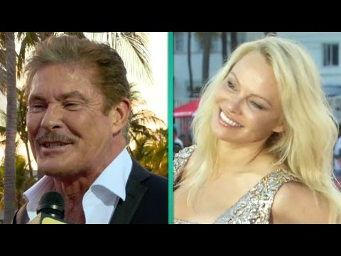 'Baywatch' Icons David Hasselhoff and Pamela Anderson Crash StarStudded Premiere