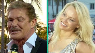 'Baywatch' Icons David Hasselhoff and Pamela Anderson Crash Star-Studded Premiere