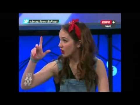 Angela torres en ESPN redes