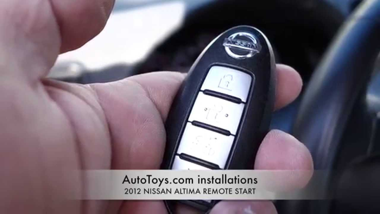 Nissan Altima 2012 Remote Start Push To Start Factory Remotes Youtube
