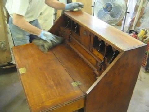Restoring a Reproduction Desk - Thomas Johnson Antique Furniture  Restoration - YouTube - Restoring A Reproduction Desk - Thomas Johnson Antique Furniture