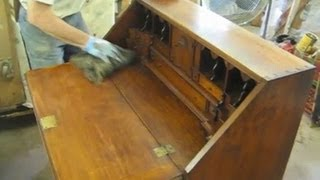 Restoring A Reproduction Desk - Thomas Johnson Antique Furniture Restoration