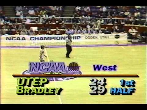 1986 NCAA 1st Round game - UTEP vs Bradley - 1st Half