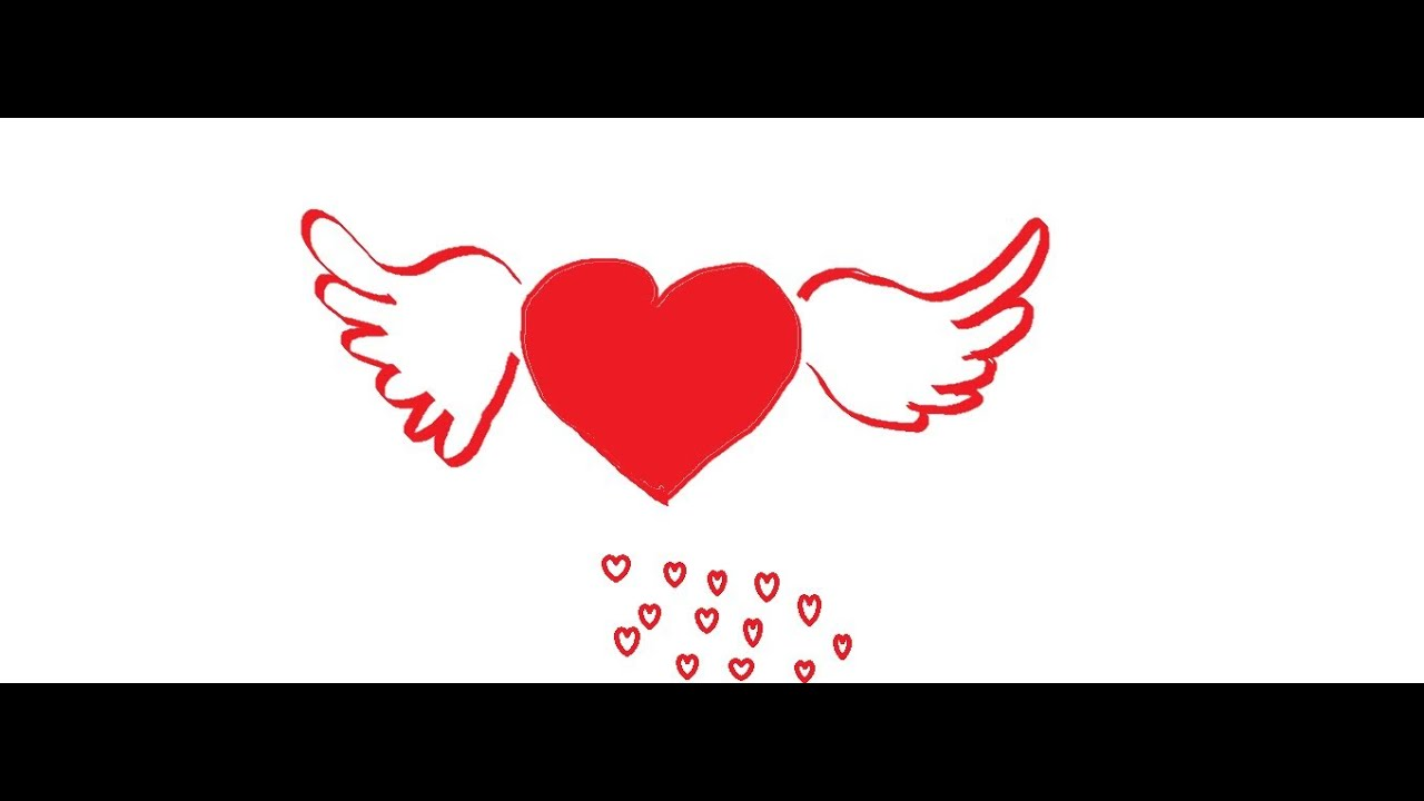 How To Draw A Heart With Wings Step By Step Youtube