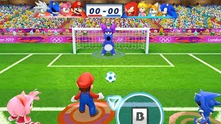 Mario & Sonic At The London 2012 Olympic Games Football #69 Team Mario, Amy, Metal Sonic, Silver