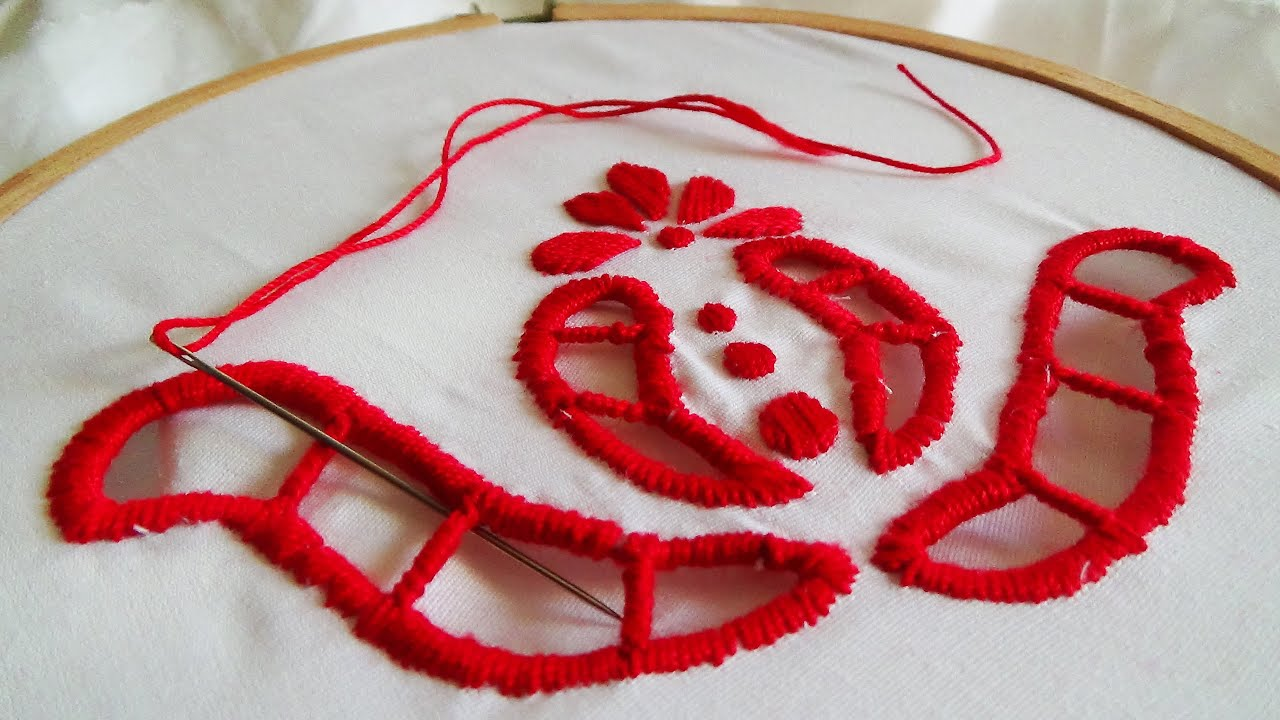 Cut work hand embroidery vicmora