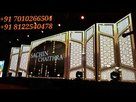 BEST CREATIVE #INDOOR WEDDING RECEPTION 3D LED MAPPING STAGE IN #CHENNAI #BANGALORE #HDERABAD