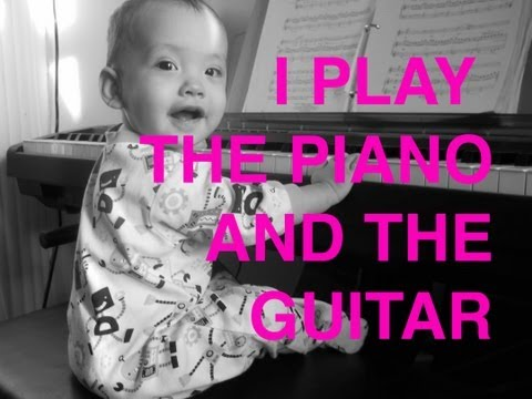 Baby plays the piano & guitar! Musical Savant Part 2 [VEDS #8]