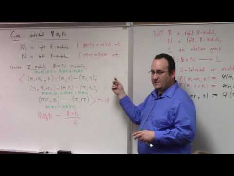 Abstract Algebra II: tensor product of modules, 3-20-17
