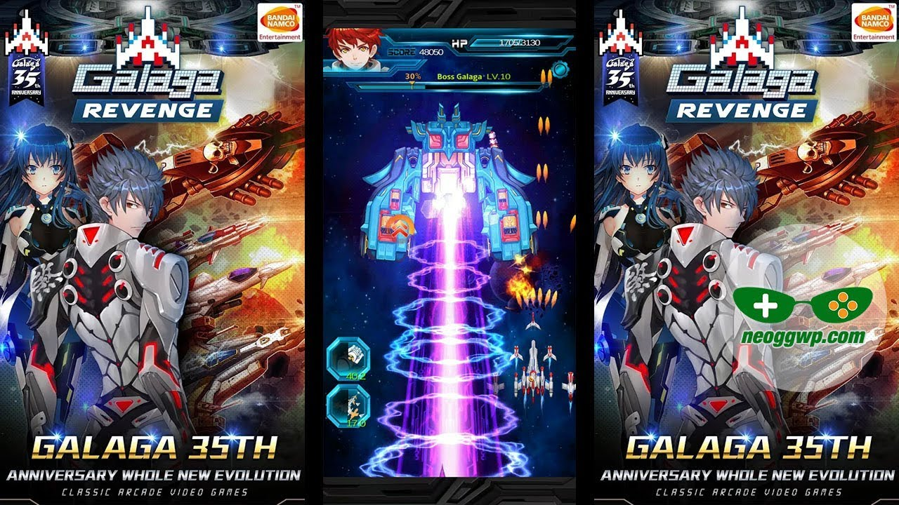 Galaga Revenge (Android iOS APK) - Arcade Shooting Gameplay, Stage 1-11