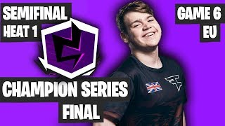 Fortnite Champion Series Final Highlights - Semifinal EU Heat 1 Game 6 [Final Results]