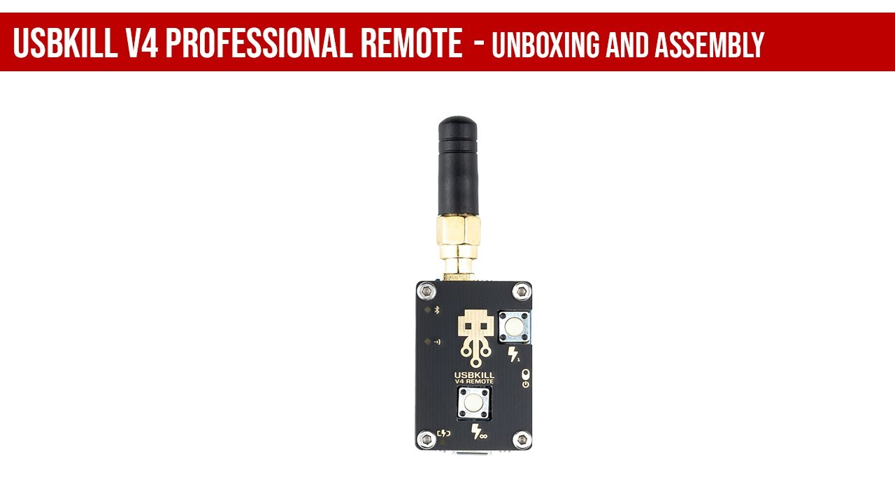 USBKill V4 PROFESSIONAL REMOTE CONTROL - Unboxing and assembly