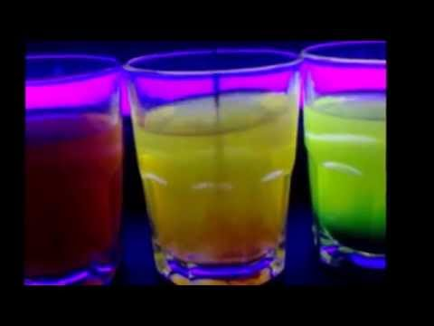 Glowing Drinks Under Blacklight: Riboflavin (Vitamin B2)