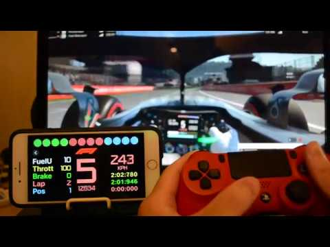 sim racing dashboard ios app for codemasters f1 2018 youtube. Black Bedroom Furniture Sets. Home Design Ideas