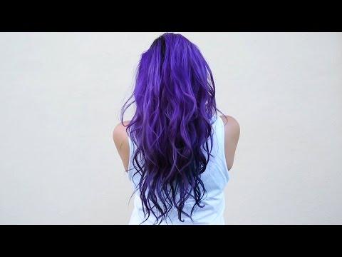 How I dye my hair purple & blue ♥ DIY