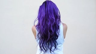 How I dye my hair purple & blue ♥ DIY