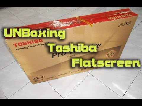 UnBoxing Toshiba Pro-theatre Flatscreen Otafuse Myacon