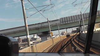 特急しなの3号前面展望 前編 名古屋-塩尻 振り子車体傾斜がすごい!