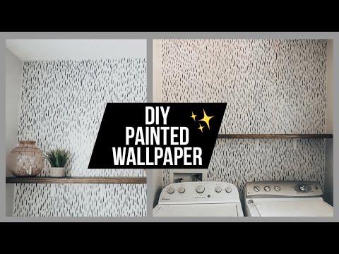EASY DIY FAUX WALLPAPER - PAINTED WALLPAPER