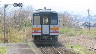JR西日本・因美線 キハ120(2018年3月31日撮影)