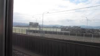 関空快速 大阪方面行きがりんくうタウン駅を発車(車内より)