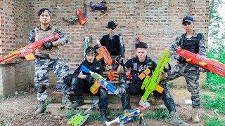 LTT Nerf War : Police SEAL X Warriors Nerf Guns Fight Criminal Group Dr Lee Scupper