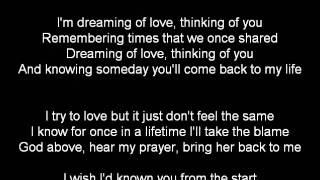DREAMING OF LOVE BY STEVIE B KARAOKE VIDEO