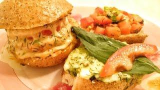 Горячие бутерброды в духовке Рецепты бутербродов 3 вида закуска и бутерброды на праздничный стол