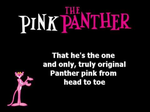 The Pink Panther Show Lyric - From head to toe