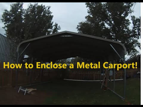 Part 1 How To Enclose A Metal Carport Installing Side