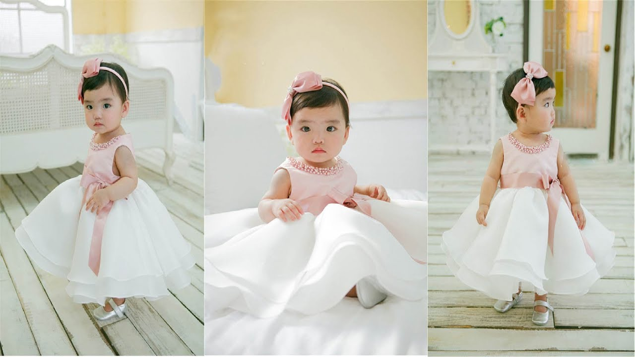 Bead newborn Wedding dress 1 year Birthday dresses ! baby girl ...