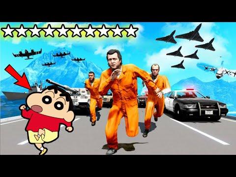 SHINCHAN SURVIVING 5 STAR WANTED LEVEL !  GTA 5