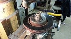 Resurfacing a warped brake rotor with a Bridgeport and rotary table