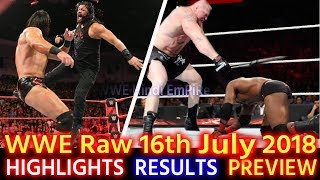 WWE Monday Night Raw 16th July 2018 Hindi Highlights Preview - Bobby Lashley vs Roman Reigns Results