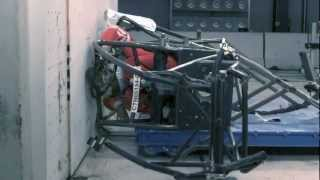 Sprint Car Crash Test into a Wall