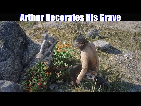 RDR2 Arthur Decorates His Grave - Red Dead Redemption 2 PS4 Pro Fanmade thumbnail