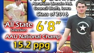 "Video Tony Bonner- 6'8"" All-State Center- Co. Bluffs Abraham Lincoln- Class of 2016 download MP3, 3GP, MP4, WEBM, AVI, FLV Desember 2017"