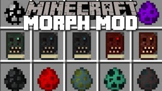 Minecraft MORPH MOD / MORPH IN TO DRAGONS!! Minecraft