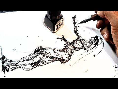 как нарисовать человека. рисование поэтапно Графика, рисование и скетчинг. Эдуард Кичигин