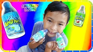 Baby Bottle Sour POP Challenge!!! Candy Review!