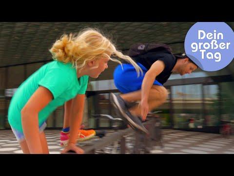 Sprung über jedes Hindernis - Charlotte läuft Parkour | Dein großer Tag | SWR Kindernetz