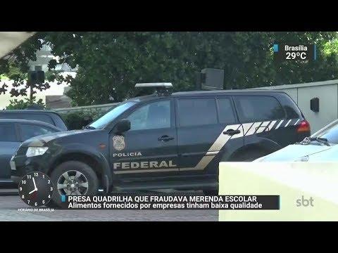 Quadrilha envolvida em fraude de merenda escolar é presa no RJ | SBT Brasil (06/10/17)