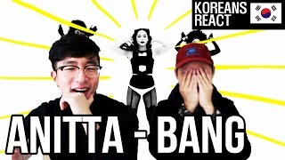 koreans react to anitta bang