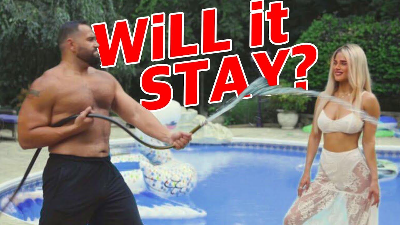 WATERPROOF MASCARA vs. HOSE Challenge!!!   Lana WWE   CJ Perry