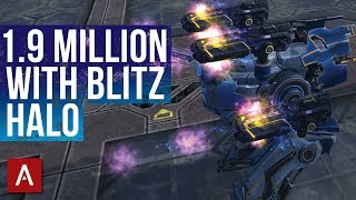 War Robots Blitz / INSANE Brawling with Blitz Halo MK2 - 1.9 MILLION DAMAGE | WR