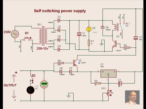 Practical Electronics Mini Projects, self switching power supply.avi ...