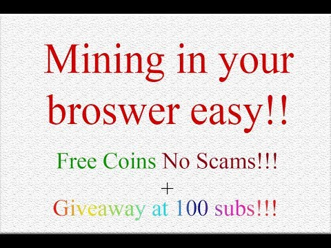 MIning Bitcoin Dash Litecoin Dogecoin In You Browser| Earn Free Coins! |Alt Coin Giveaway