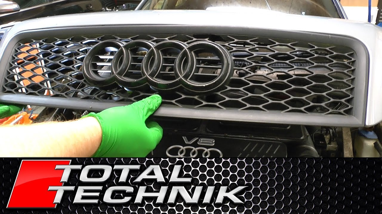 How to Remove Bonnet Grille (Grill) - Audi A6 S6 RS6 - C5 - 1997-2005 -  TOTAL TECHNIK