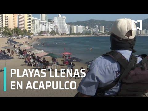 Gran afluencia en Playas de Acapulco - Las Noticias