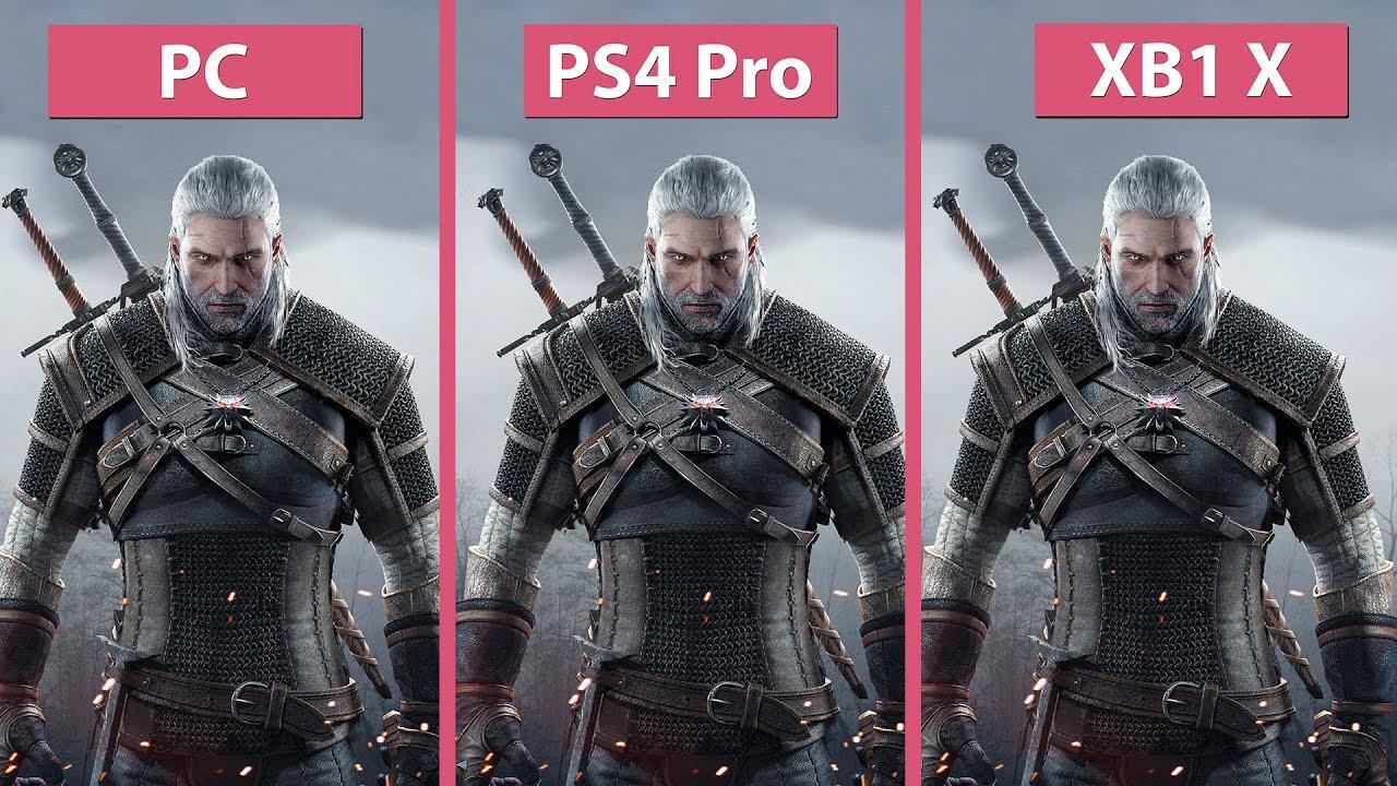 [4K] Witcher 3 – PC vs. PS4 Pro vs. Xbox One X 4K Mode ...Ps4 Graphics Card Vs Xbox One Graphics Card